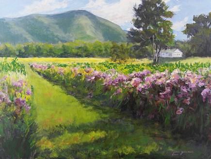 """Blossoms at Thorn Preserve"" original fine art by Jamie Williams Grossman"