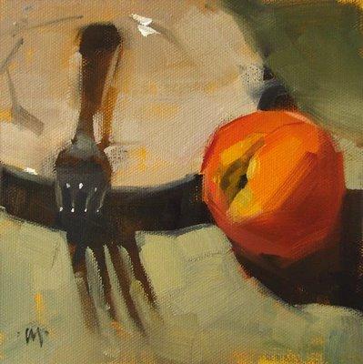 """Wrong Utensil"" original fine art by Carol Marine"