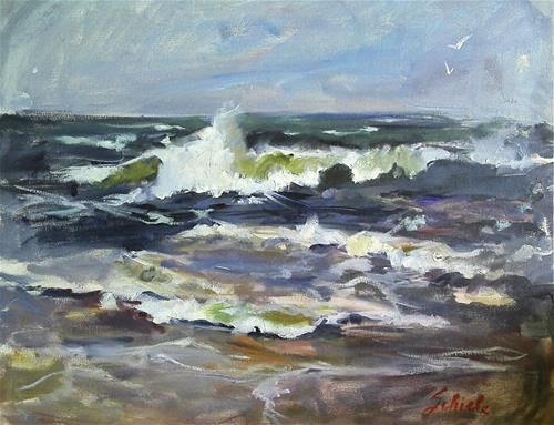 """water scene"" original fine art by Richard Schiele"