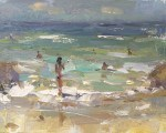 """""""Seascape Plein air Winds and Water"""" original fine art by Roos Schuring"""