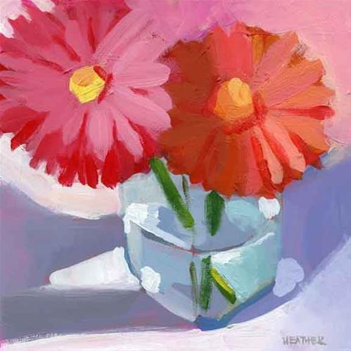 """Flowers for Lucy"" original fine art by Heather Bennett"