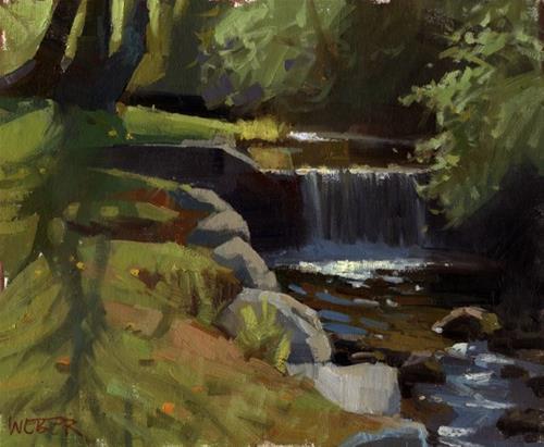 """Anne Hutchinson Park"" original fine art by Kathy Weber"