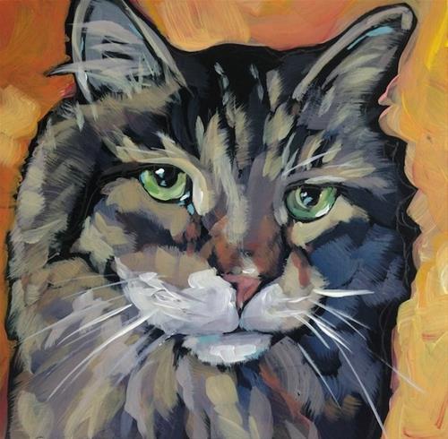 """March 9, Tiger!"" original fine art by Kat Corrigan"