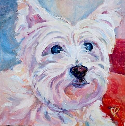 """""""Reggie"""" original fine art by Carol DeMumbrum"""