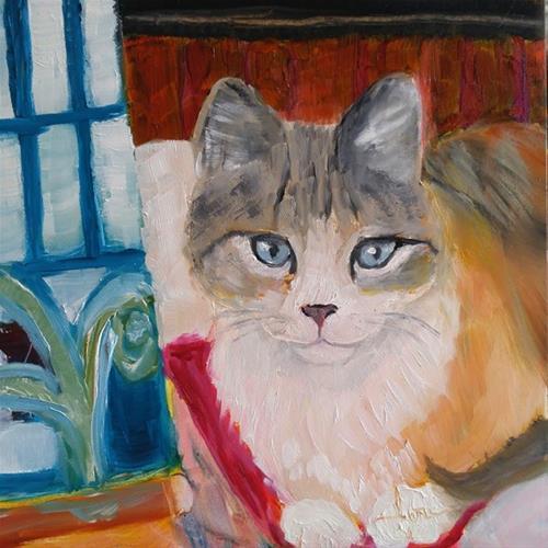 """""""Painting Assistant"""" original fine art by Lou Belcher"""