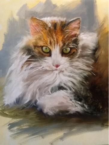 """Here Kitty Kitty"" original fine art by Diana Delander"