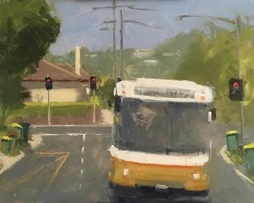"""BUS 472 - # 4"" original fine art by Helen Cooper"