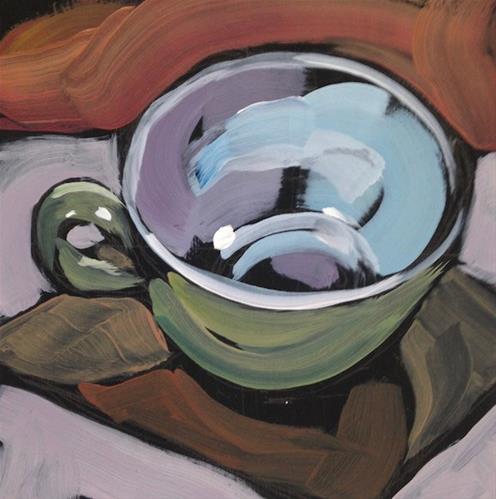 """That Coffee Cup"" original fine art by Kat Corrigan"