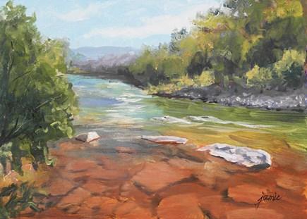 """Hues of the Creek"" original fine art by Jamie Williams Grossman"