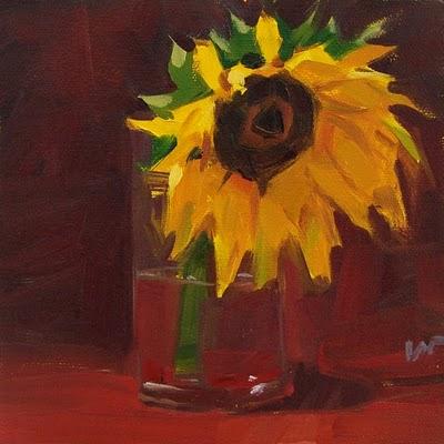 """""""Sunflower 1 & 2 --- SOLD"""" original fine art by Carol Marine"""