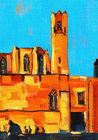 """Plaça del Rei, Barcelona Painting"" original fine art by Kevin Inman"