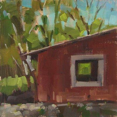 """""""See Thru Barn"""" original fine art by Carol Marine"""