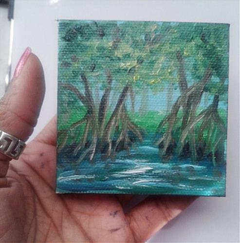 """Mangrove Trees"" original fine art by Camille Morgan"