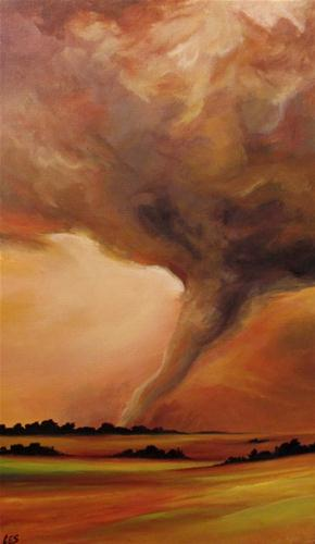 """Touching Down"" original fine art by ~ces~ Christine E. S. Code"