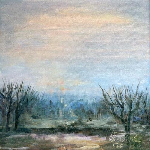 """Sunset Burgenland Austria"" original fine art by Christa Friedl"