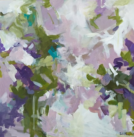 """""""Playing in the Lavender Field"""" original fine art by Pamela Munger"""