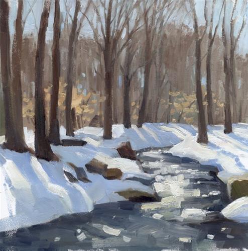 """Snowmelt at Caratunk"" original fine art by Kathy Weber"