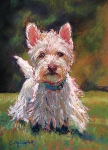 """Darby"" original fine art by Cindy Gillett"