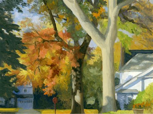 """ROCKLAND ROAD"" original fine art by Nancy Herman"