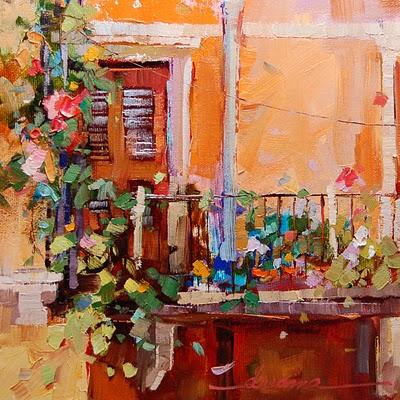 """""""Bello Balcone"""" original fine art by Dreama Tolle Perry"""