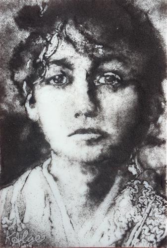 """Camille Claudel 2, Tragic Women in the Arts Series"" original fine art by Kelly Alge"