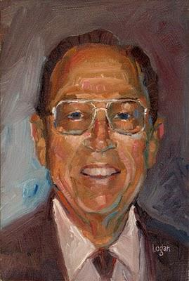 """Study of Mr. C"" original fine art by Raymond Logan"