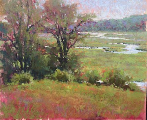 """Summer Marsh Overlook study"" original fine art by Jacob Aguiar"
