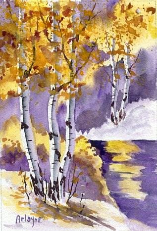 """Aspen Landscape"" original fine art by Arlayne McKee"
