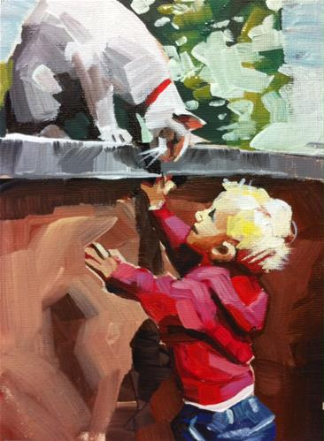 """Alice Makes a Friend"" original fine art by Teddi Parker"