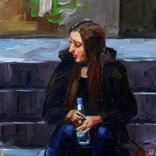 """waiting on"" original fine art by Jurij Frey"