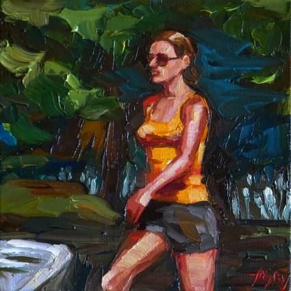 """beim joggen"" original fine art by Jurij Frey"