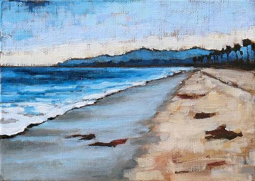 """Santa Barbara Beach Sunset"" original fine art by Kevin Inman"