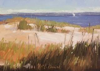 """Dune Grasses"" original fine art by Laurel Daniel"