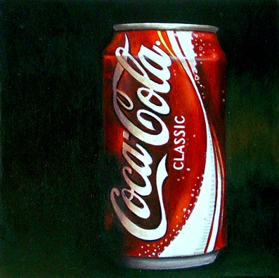 """Classic (Coca Cola Can)"" original fine art by Gerard Boersma"