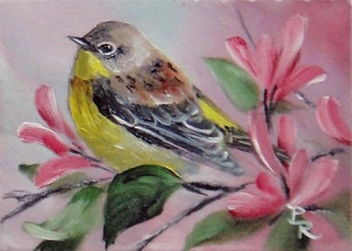"""Honeysuckle Buds"" original fine art by Paulie Rollins"