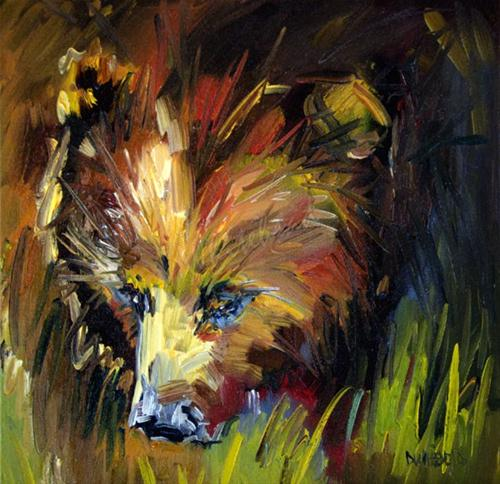 """""""Berry Hunter Bear Oil Painting by Diane Whitehead"""" original fine art by Diane Whitehead"""