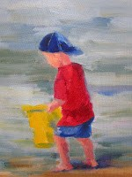 """Primary Colors - Beach"" original fine art by Peggy Schumm"