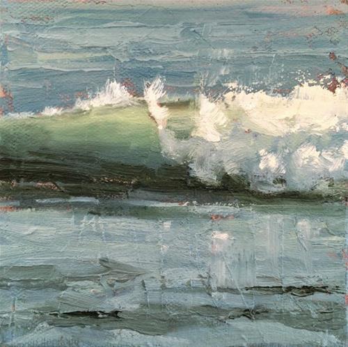 """Small Wave"" original fine art by Deborah Newman"