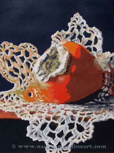 """Persimmon"" original fine art by Nan Johnson"