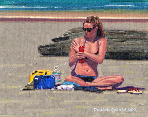 """Working on the Tan"" original fine art by Donald Curran"