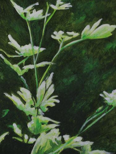 """""""Leaves in Green"""" original fine art by Nan Johnson"""