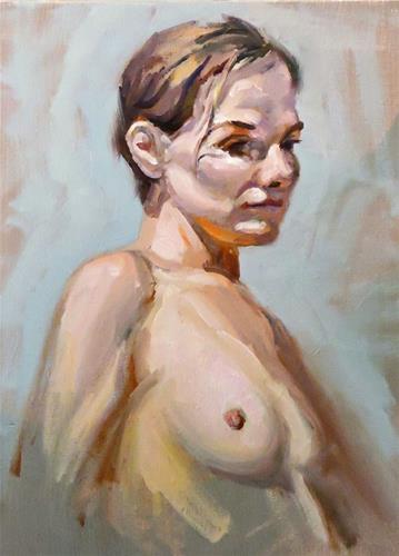 """portrait practice"" original fine art by Michelle chen"