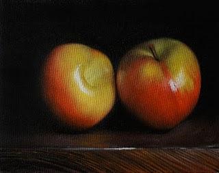 """""""Red Plums"""" original fine art by Jonathan Aller"""