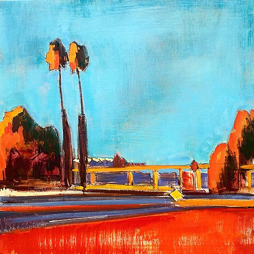 """""""19th and 94 Freeway"""" original fine art by Kevin Inman"""