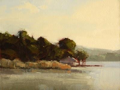 """Lake Light"" original fine art by Laurel Daniel"