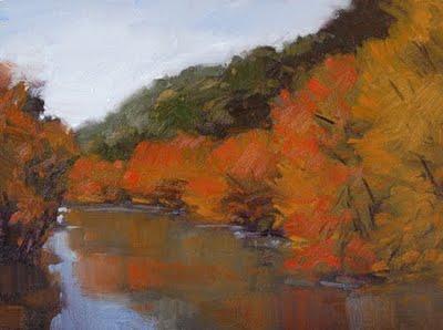 """Blazing Canyon"" original fine art by Laurel Daniel"