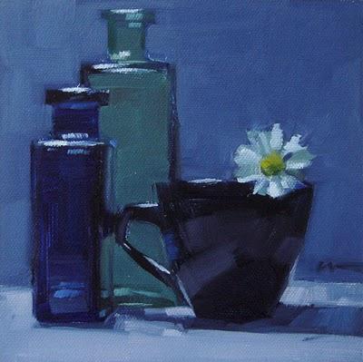 """""""Blue Daisy --- n/a"""" original fine art by Carol Marine"""