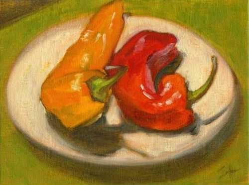 """Wanna Spoon?"" original fine art by Sandy Haynes"