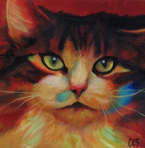 """""""Calico in Color"""" original fine art by ~ces~ Christine E. S. Code"""