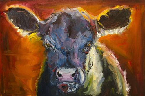 """""""ANOTHER DAY IN COW PARADISE Cattle art by Diane Whitehead"""" original fine art by Diane Whitehead"""